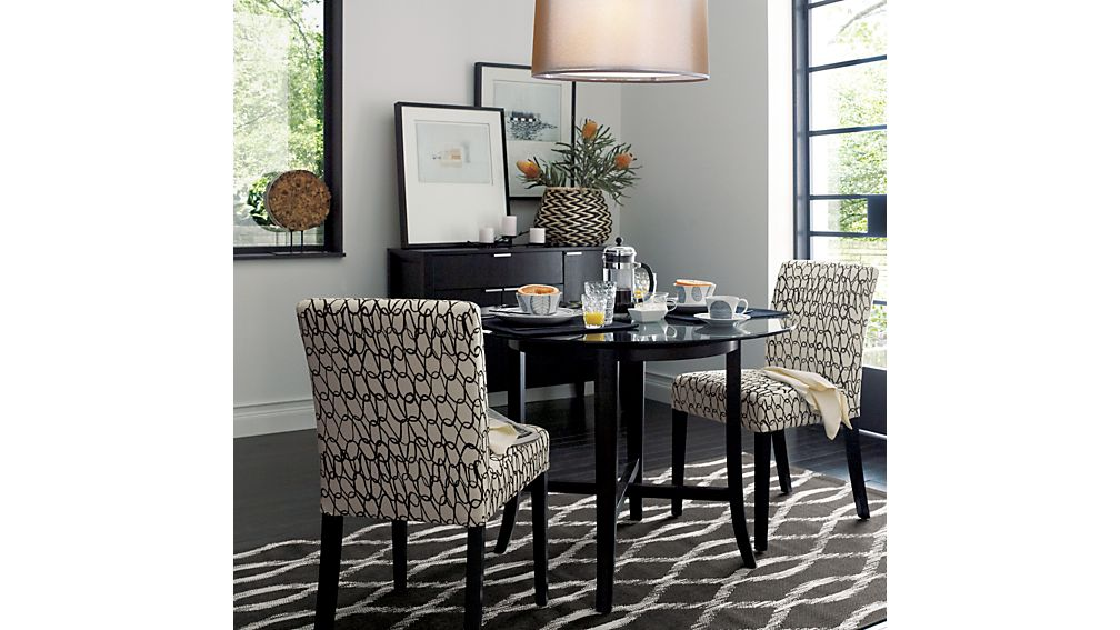 Halo Ebony Round Dining Table with 42quot Glass Top Crate  : halo ebony dining tables with glass top from www.crateandbarrel.com size 1008 x 567 jpeg 86kB