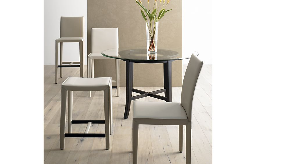 Folio Oyster Bonded Leather Counter Stool