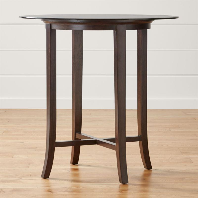 Halo Ebony Round High Dining Table with 42quot Glass Top  : HaloEbony42InHighDiningTablSHF161x1 from www.crateandbarrel.com size 800 x 800 jpeg 44kB