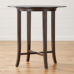 Halo Ebony Round Dining Table With 60 Quot Glass Top Crate