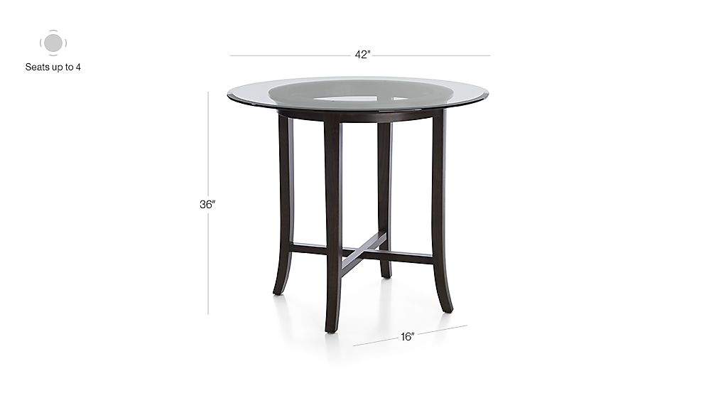 Halo Ebony Round High Dining Tables Crate And Barrel