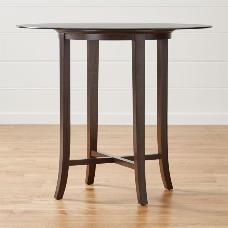 Halo Ebony Round Counter Height Table With 48 Quot Gla Crate