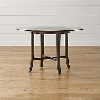Halo Ebony Round Dining Tables with Glass Top