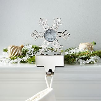 Hammered Snowflake Picture Frame Stocking Hook