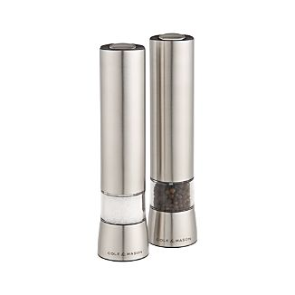 Cole & Mason ® Hampstead Electric Salt and Pepper Mills with Light
