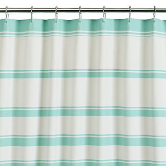 Hampton Stripe Seafoam Shower Curtain