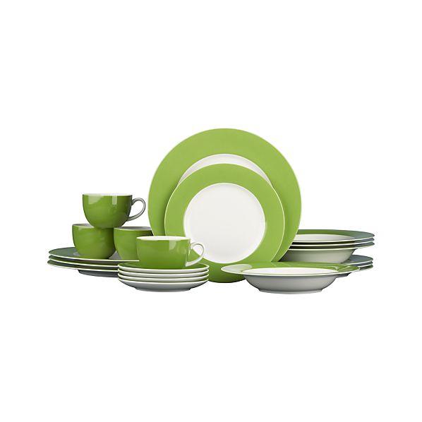 Hamptons Green 20-Piece Dinnerware Set