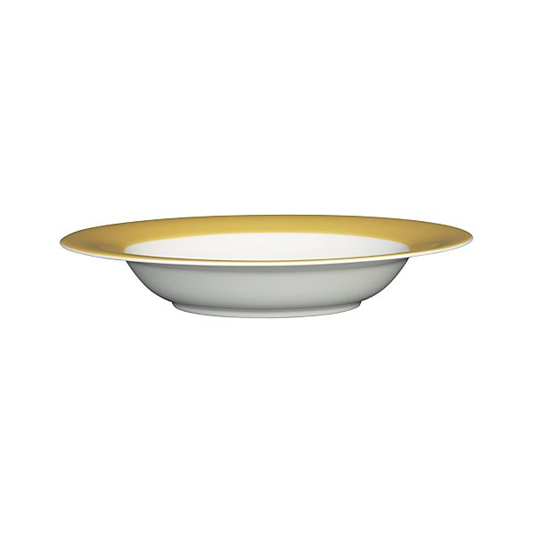 Hamptons Yellow Low Bowl