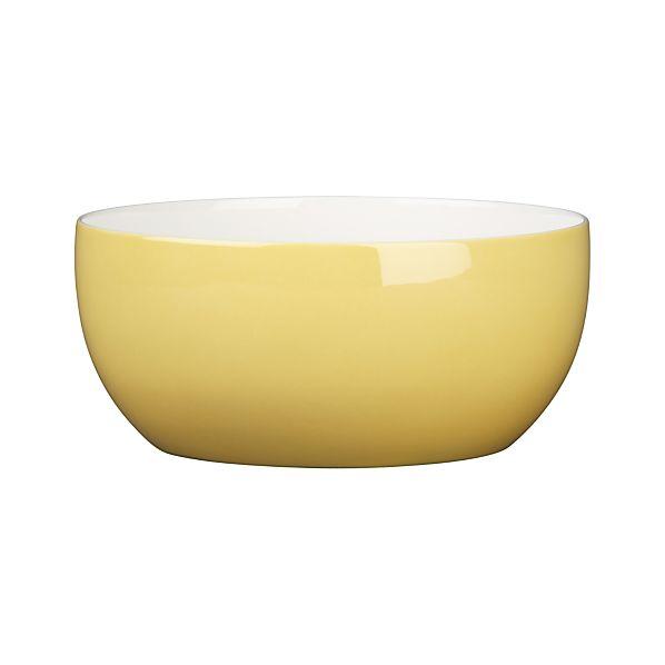 Hamptons Yellow Serving Bowl