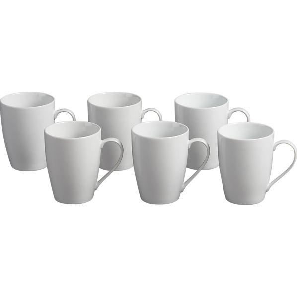 Set of 6 Hana 14 oz. Mugs