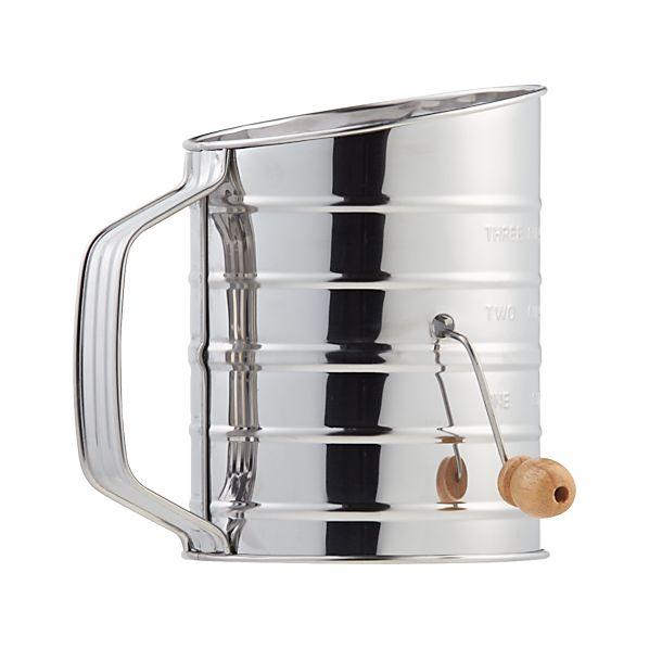 Hand Crank 3-Cup Flour Sifter