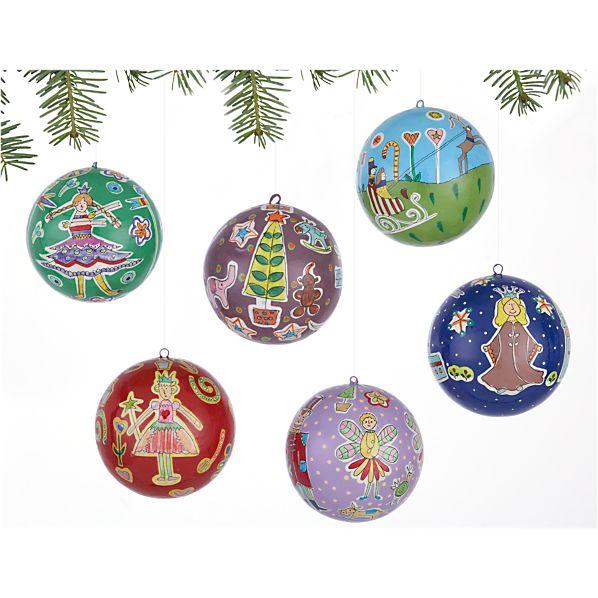 Set of 6 Handpainted Nutcracker Ornaments