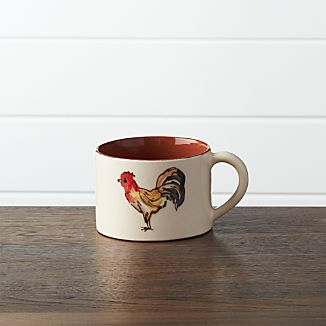 Handpainted Rooster Soup Mug