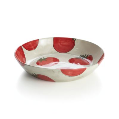 Handpainted Tomato Serving Pasta Bowl