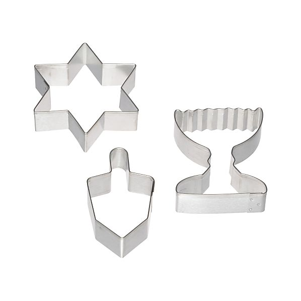 3-Piece Hanukkah Cookie Cutter Set