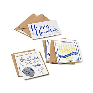 Set of 6 Hanukkah Cards