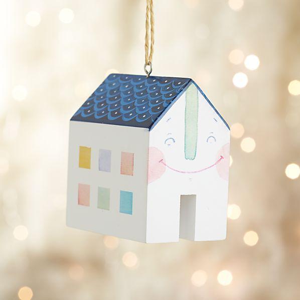 Happy House Ornament