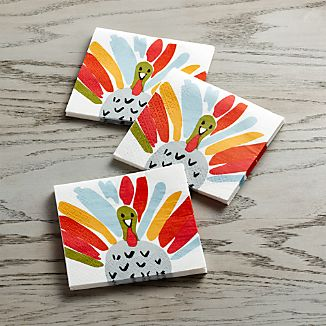 Happy Turkey Paper Beverage Napkins Set of 20