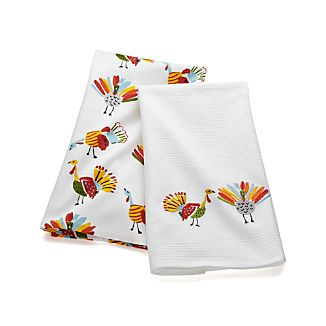 Happy Turkey Dish Towels Set of Two