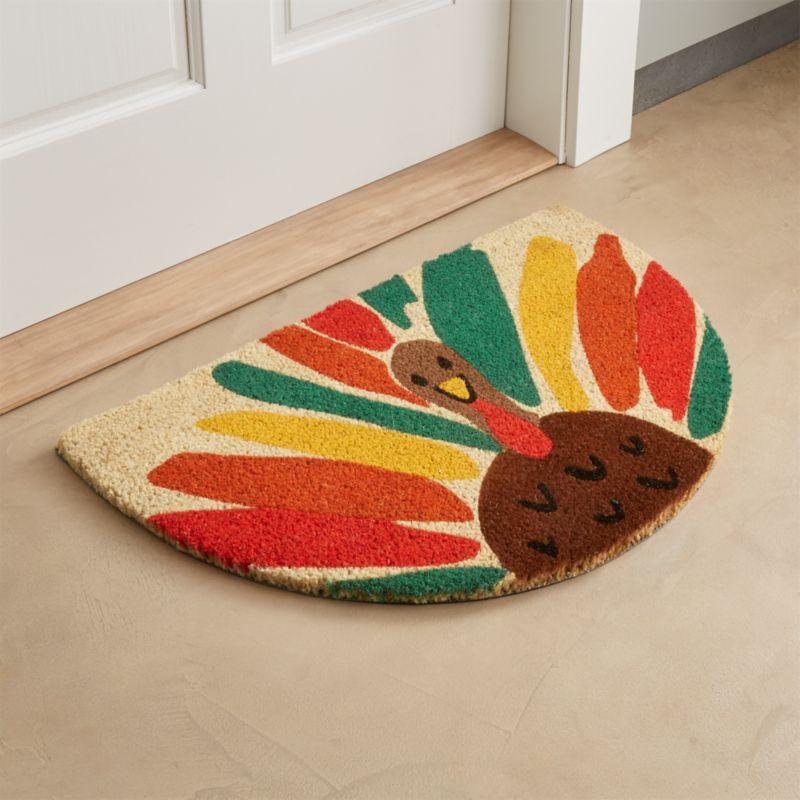 Happy Turkey Coir Doormat
