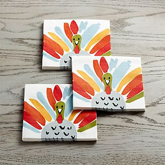 Happy Turkey Paper Lunch Napkins Set of 20