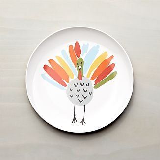 Happy Turkey Melamine Dinner Plate