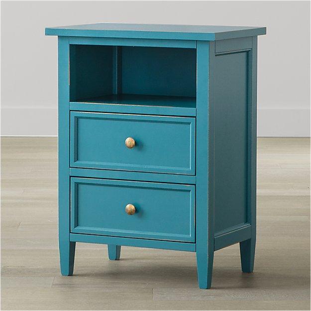 Harbor Blue 2-Drawer Nightstand