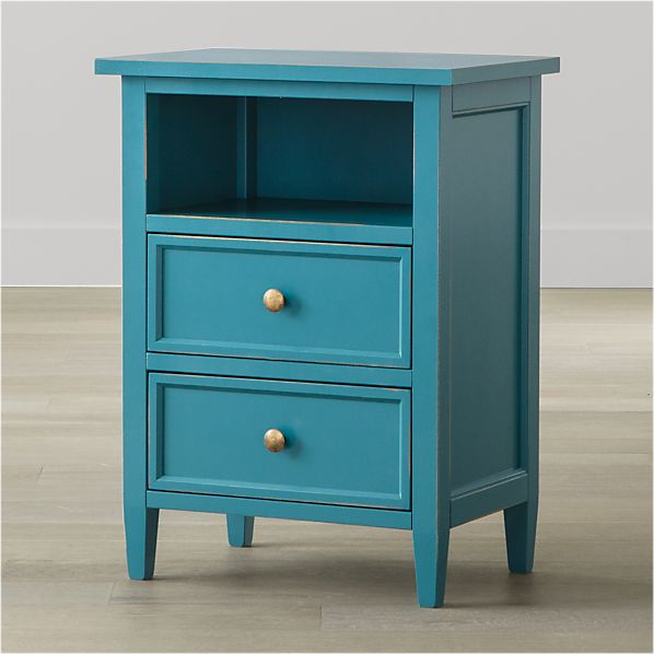 Harbor Blue 2-Drawer Nightstand