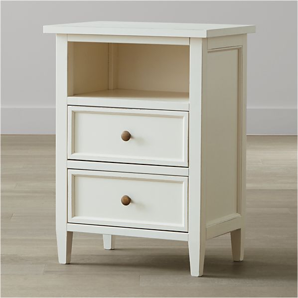 Harbor White Two-Drawer Nightstand