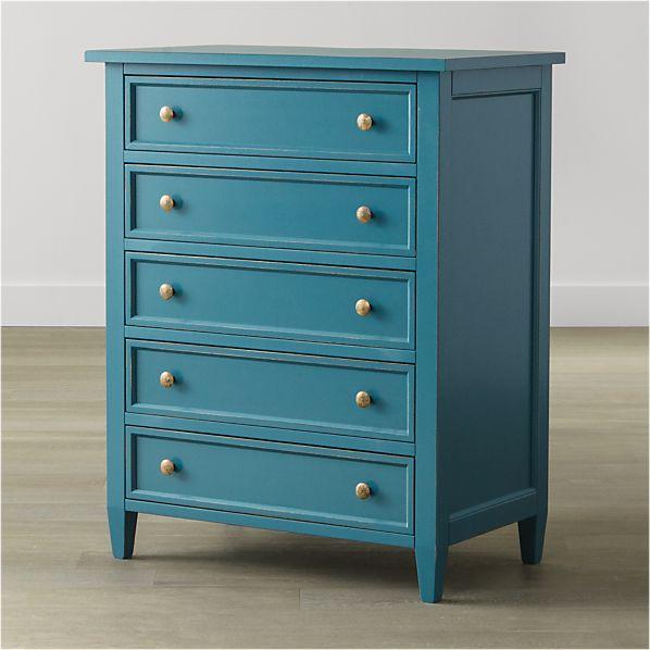 Harbor Blue Five-Drawer Chest