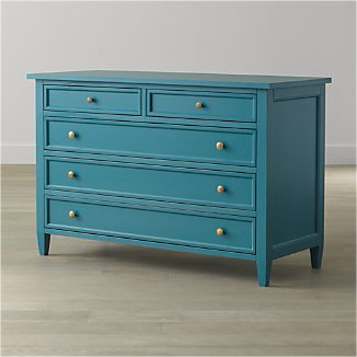 Harbor Blue 5-Drawer Dresser