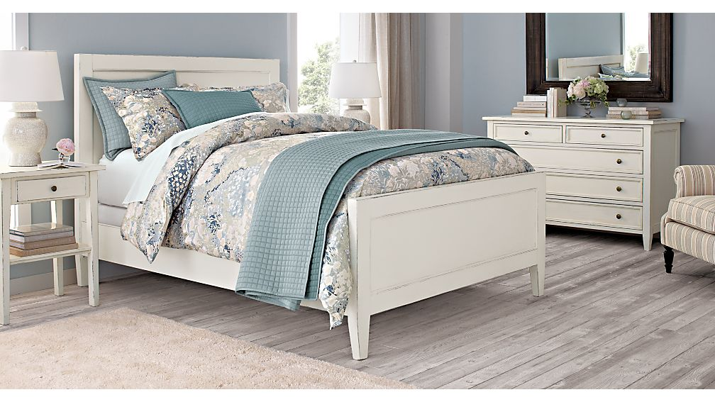 harbor king bed crate and barrel