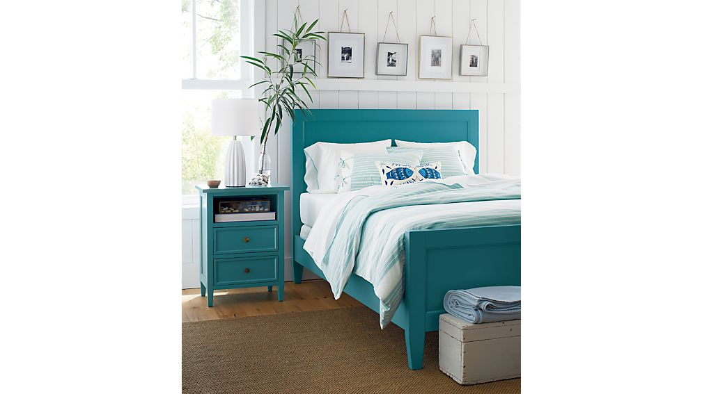 Harbor Blue Queen Bed