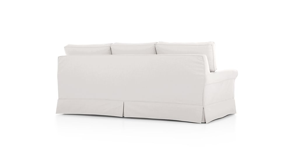 Harborside Slipcovered 3 Seat Sofa Petry Snow Crate And