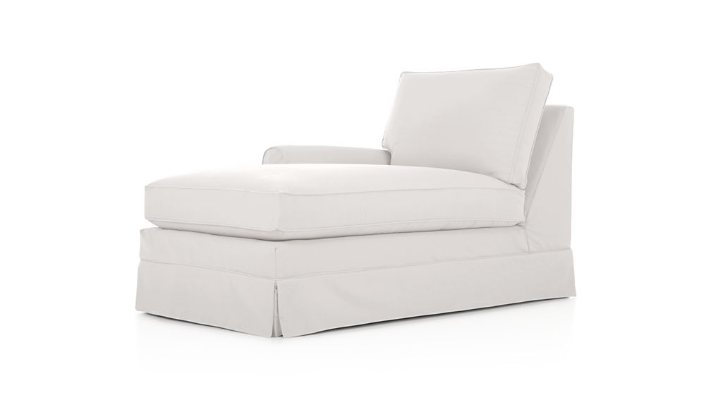 Harborside Slipcovered Left Arm Chaise Lounge