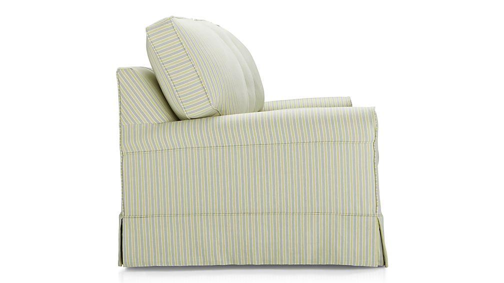 Harborside Stripe Slipcovered 3-Seat Queen Sleeper Sofa