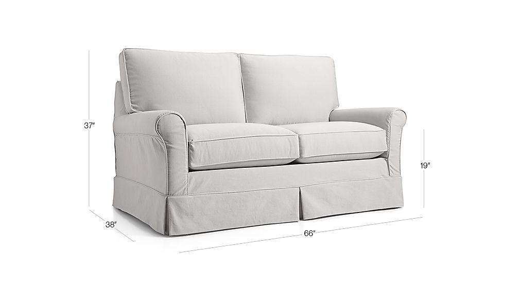 Harborside Slipcovered Loveseat Petry Snow Crate And Barrel