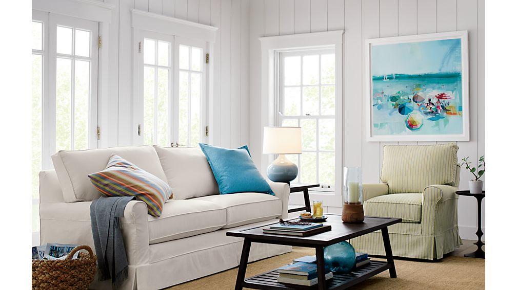 Harborside Slipcovered Apartment Sofa