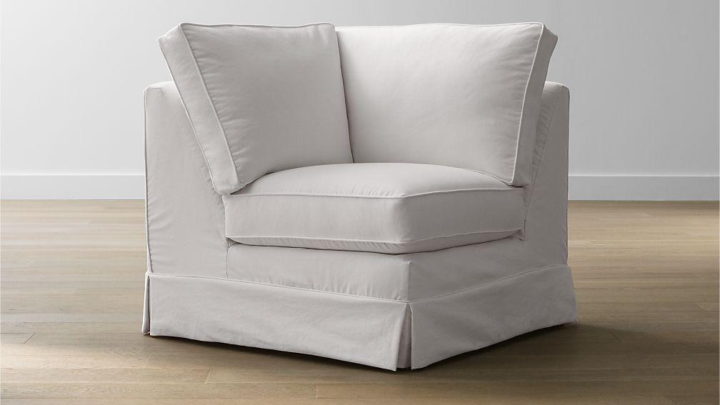 Harborside Slipcovered Corner Chair