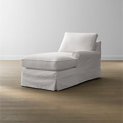 Harborside Slipcovered Right Arm Chaise Lounge