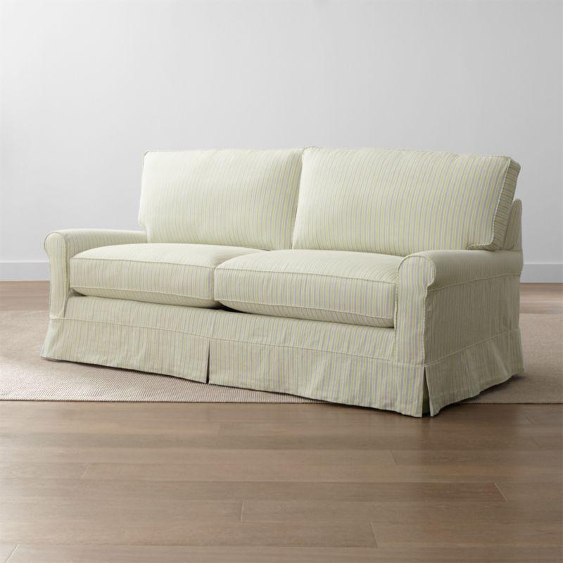 Harborside Stripe Slipcovered Full Sleeper Sofa