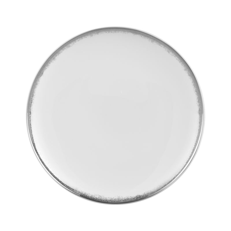 Simple and sophisticated. Clean contemporary coupe shape in gleaming white gets an elegant accent of feathered platinum around its rim. Bone china is highly durable and chip- and stain-resistant.<br /><br /><strong>Please note:</strong> This plate is discontinued. When our current inventory is sold out, it is unlikely we will be able to obtain more.<br /><br /><NEWTAG/><ul><li>Bone china</li><li>Coupe shapes</li><li>Platinum rims</li><li>Dishwasher-safe; hand wash for longer life</li><li>Made in Japan</li></ul>