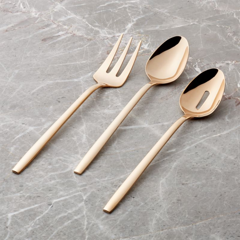 Harper Rose Gold 3-Piece Serving Set