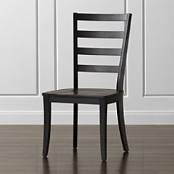 Harper Black Ladder Back Wood Dining Chair