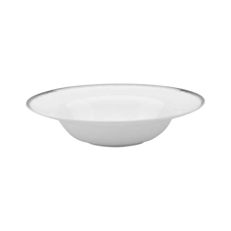 Simple and sophisticated. Clean contemporary coupe shape in gleaming white gets an elegant accent of feathered platinum around its rim. Bone china is highly durable and chip- and stain-resistant.<br /><br /><strong>Please note:</strong> This bowl is discontinued. When our current inventory is sold out, it is unlikely we will be able to obtain more.<br /><br /><NEWTAG/><ul><li>Bone china</li><li>Coupe shapes</li><li>Platinum rims</li><li>Dishwasher-safe; hand wash for longer life</li><li>Made in Japan</li></ul>