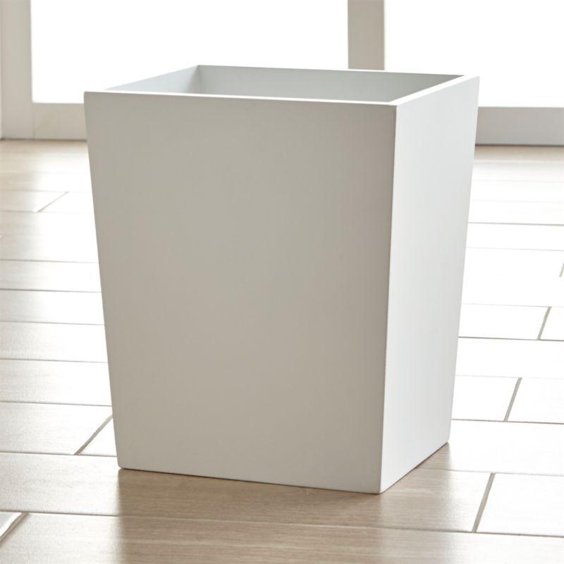 harper trash can crate and barrel. Black Bedroom Furniture Sets. Home Design Ideas
