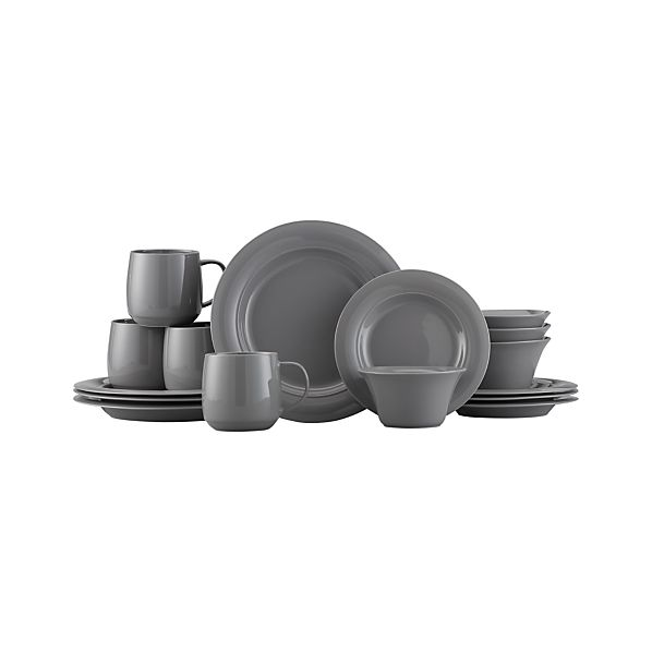 Harris Grey 16-Piece Dinnerware Set