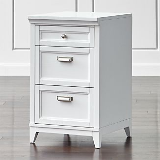 "Harrison 18"" White 3-Drawer Cabinet"