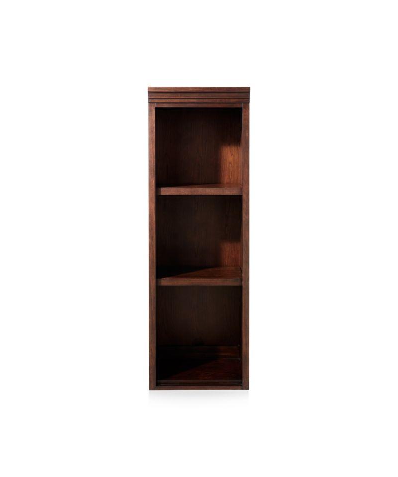 """Harrison 18"""" Cherry Open Bookcase Hutch"""