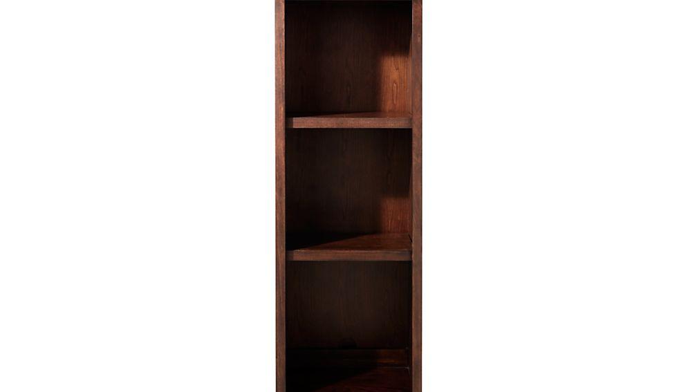 "Harrison 18"" Cognac Open Bookcase Hutch"